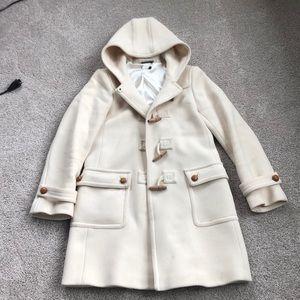 J Crew Wool Hooded Coat